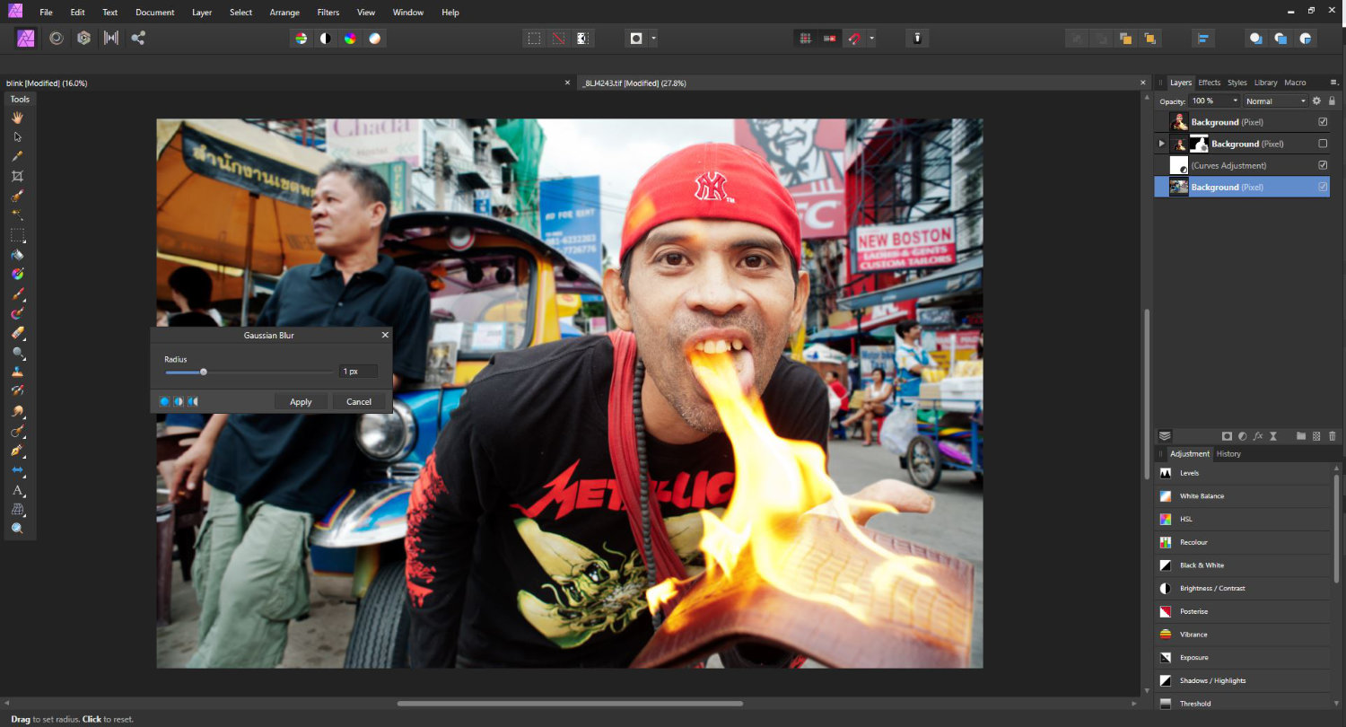 merge photos in Affinity screen grab