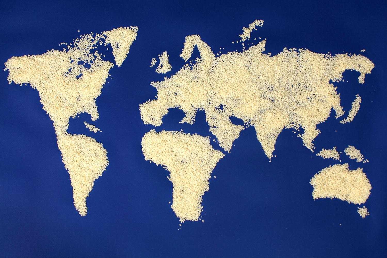 idéias de fotografia de comida criativa comida como um mapa-múndi