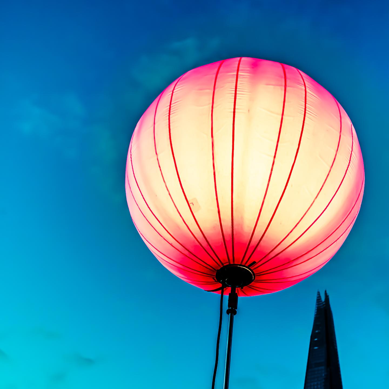 balão de ideia de fotografia abstrata