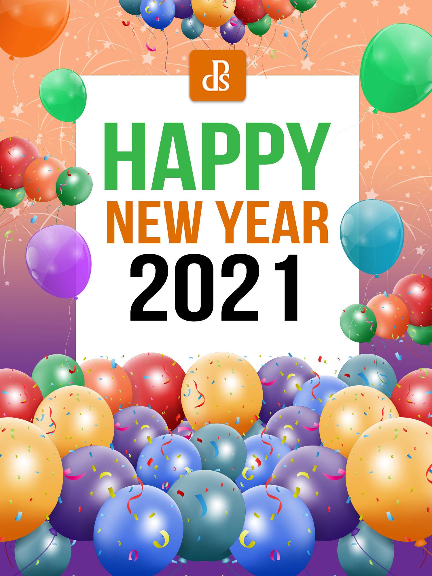 Feliz Ano Novo de 2021 da equipe dPS