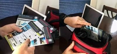 Imprima seus Snapcards e coloque-os na bolsa da câmera