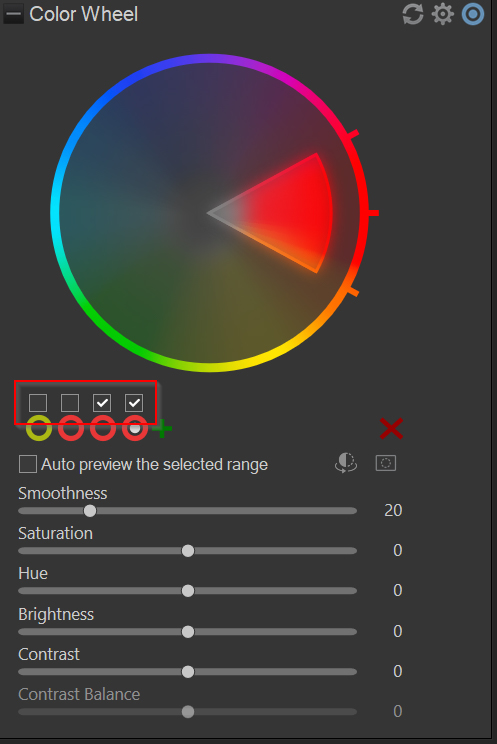 viewing the effects of color wheels