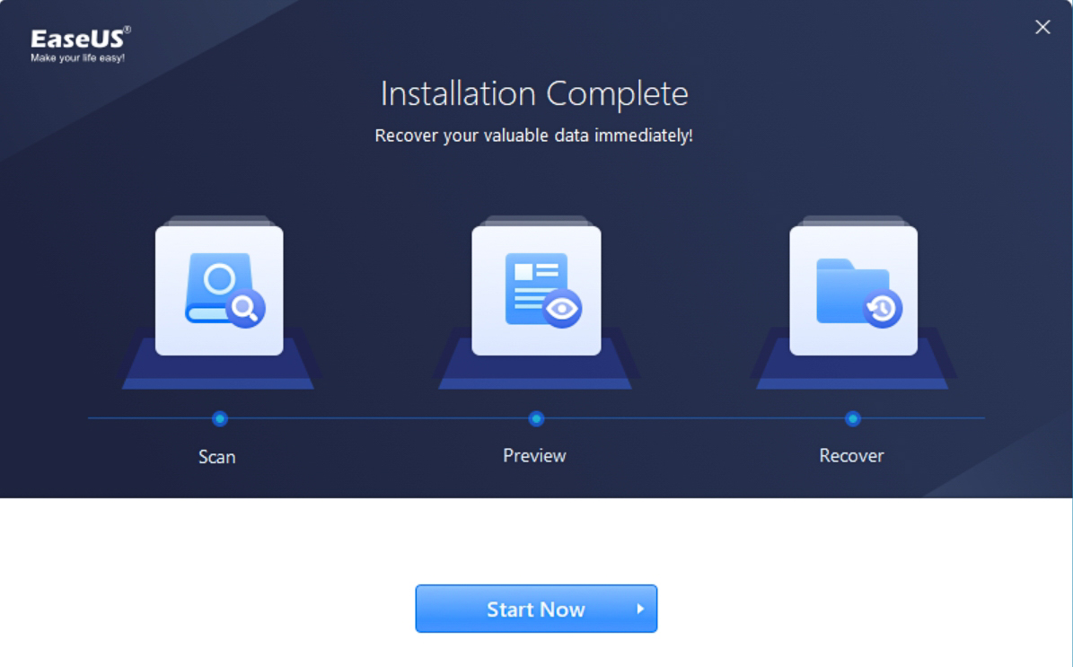 installing EaseUS