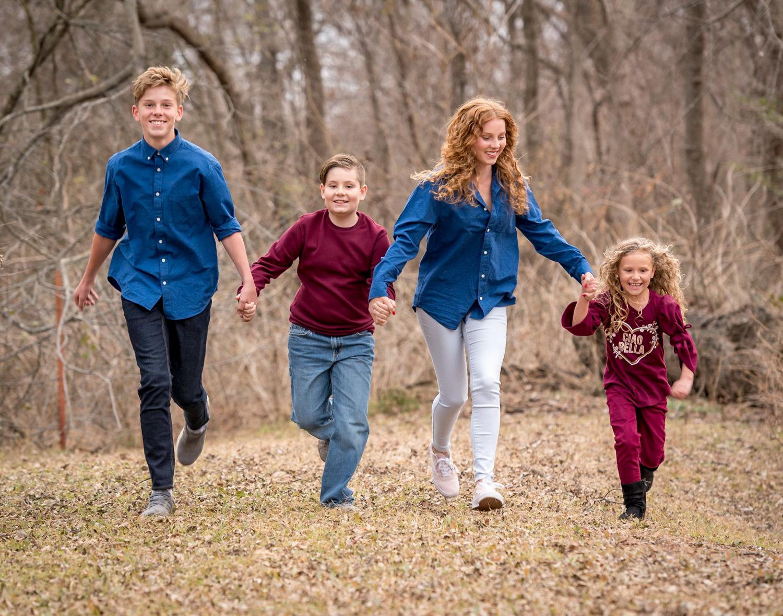 família correndo