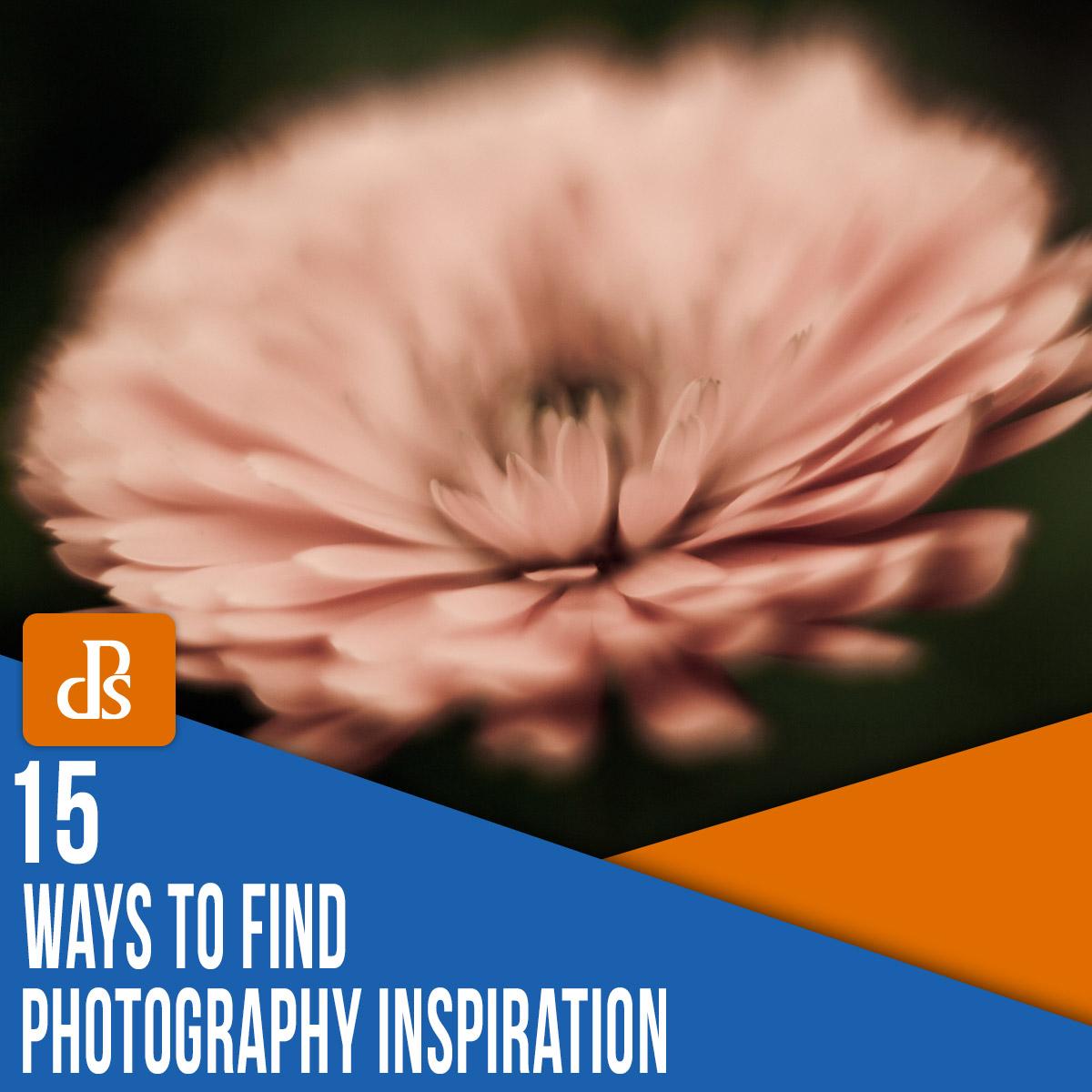 maneiras de encontrar inspiração na fotografia
