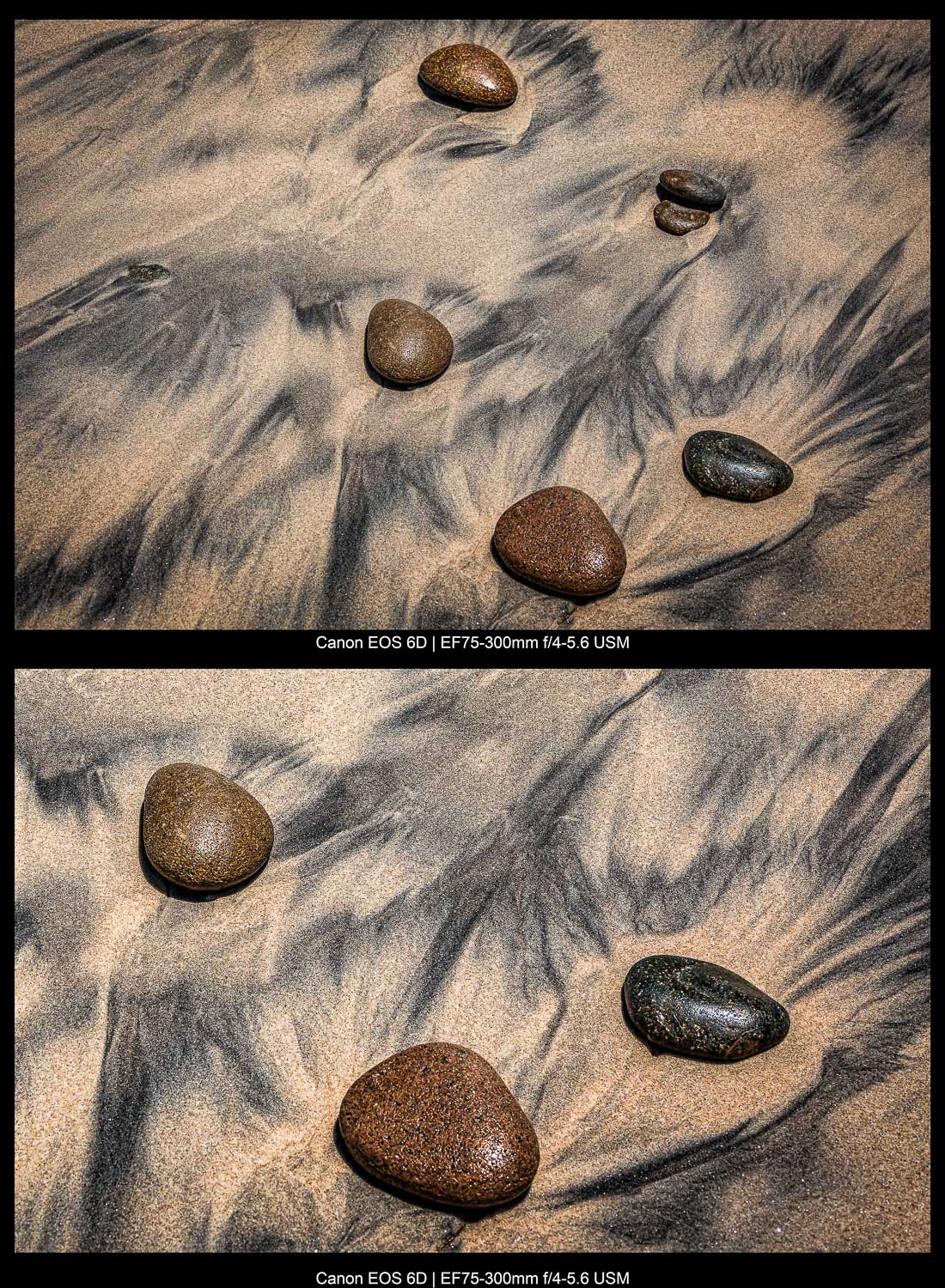 groups of rocks on the sand