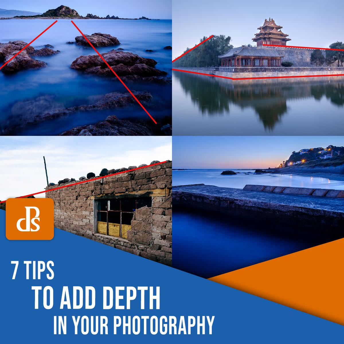 dicas para adicionar profundidade à sua fotografia