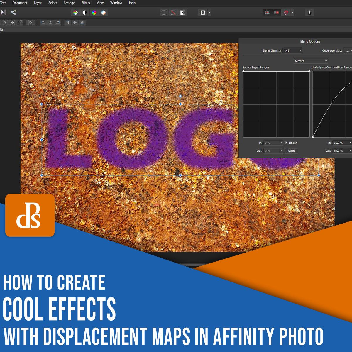 create cool effects with displacement maps in Affinity Photo