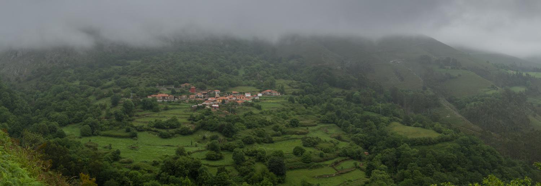 village on a mountaintop