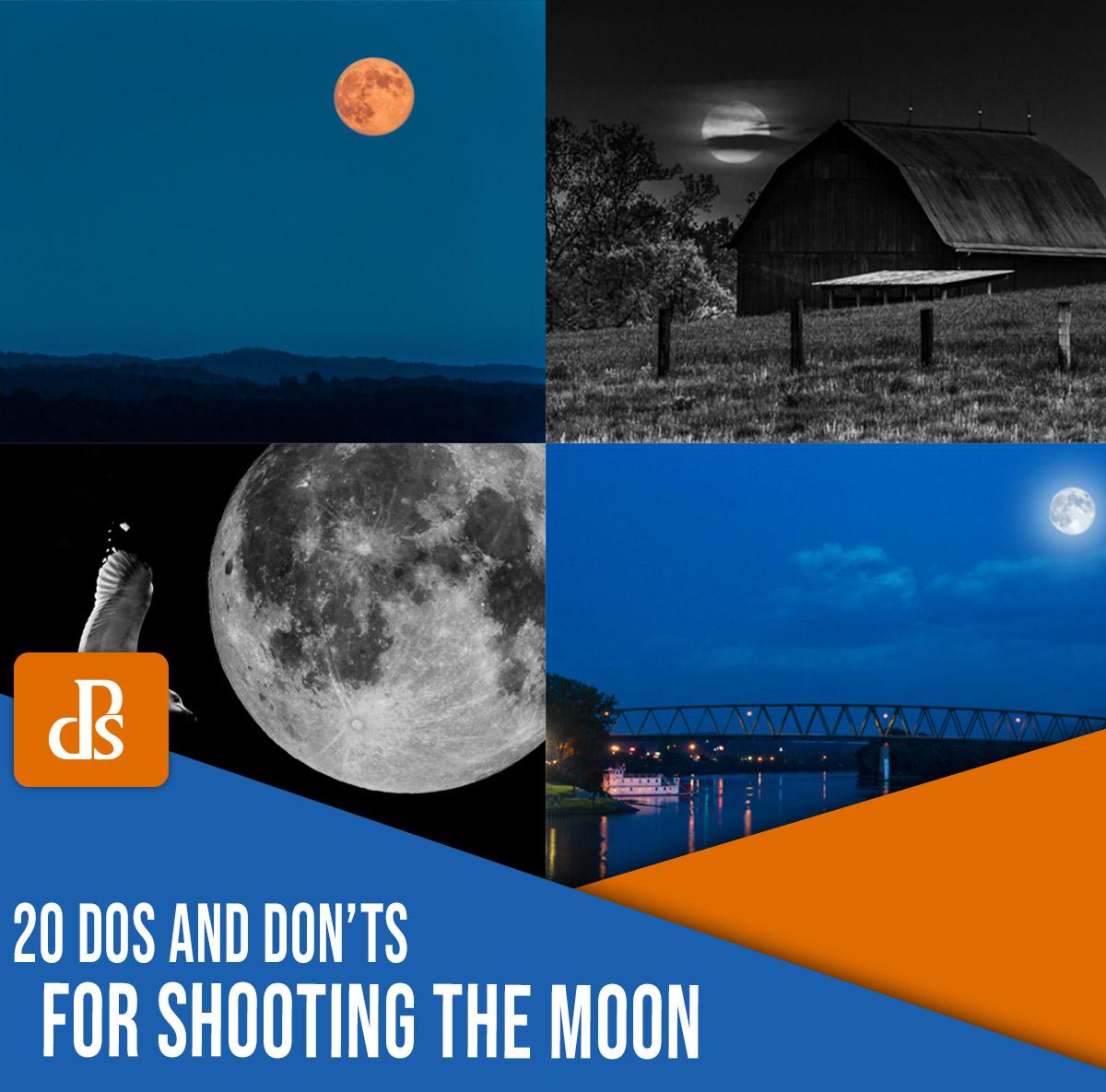 20 prós e contras para fotografar a lua