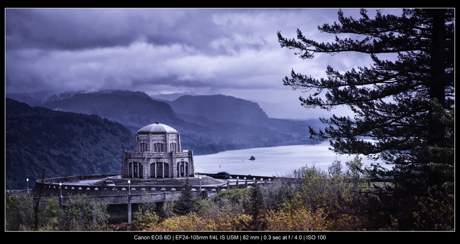 stormy Columbia River Gorge