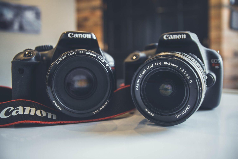 two Canon DSLRs