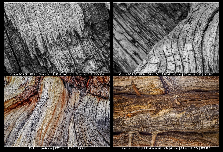 Fotografia de paisagem abstrata - textura