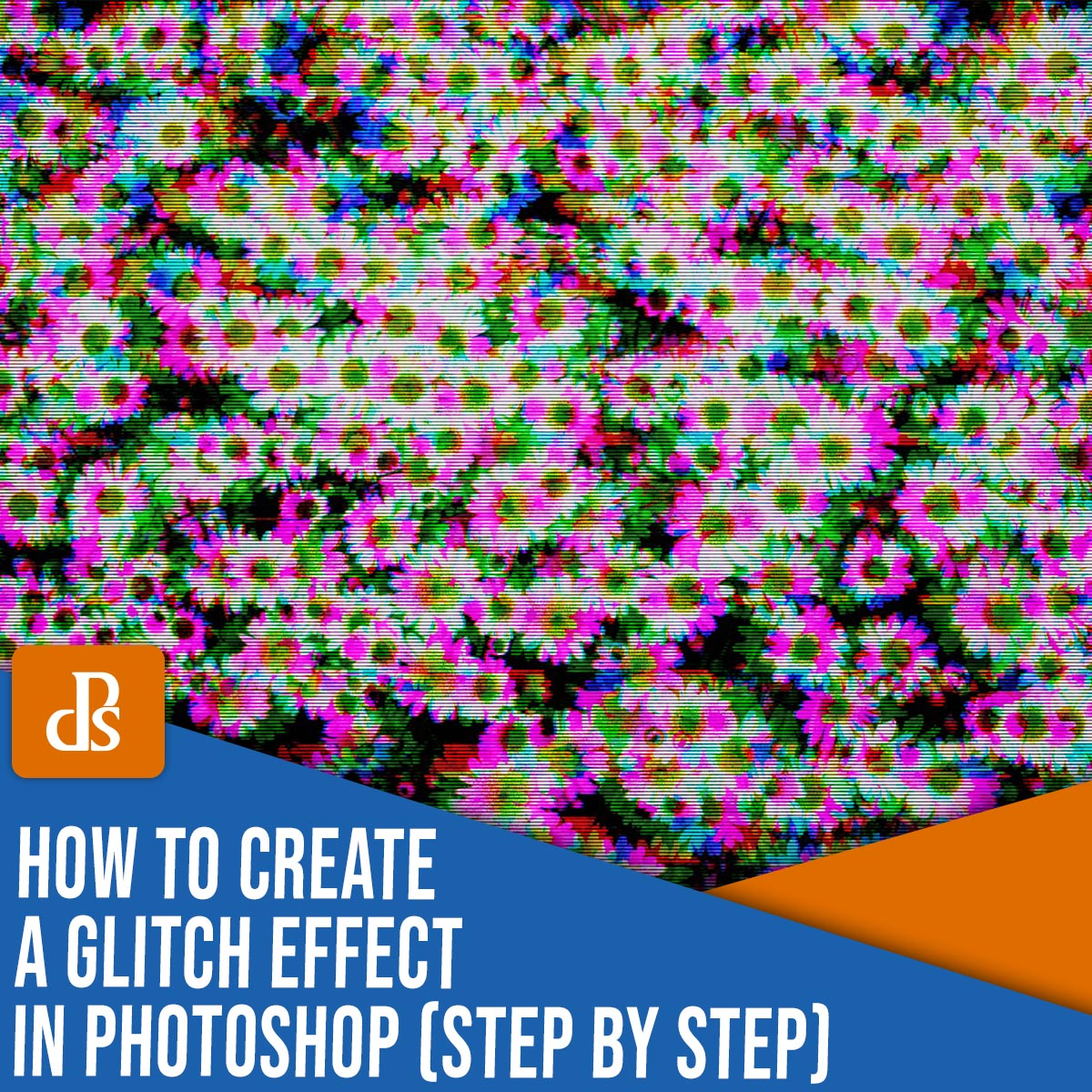 how to create a glitch effect in Photoshop step by step