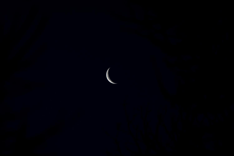 Crescent moon Unprocessed RAW