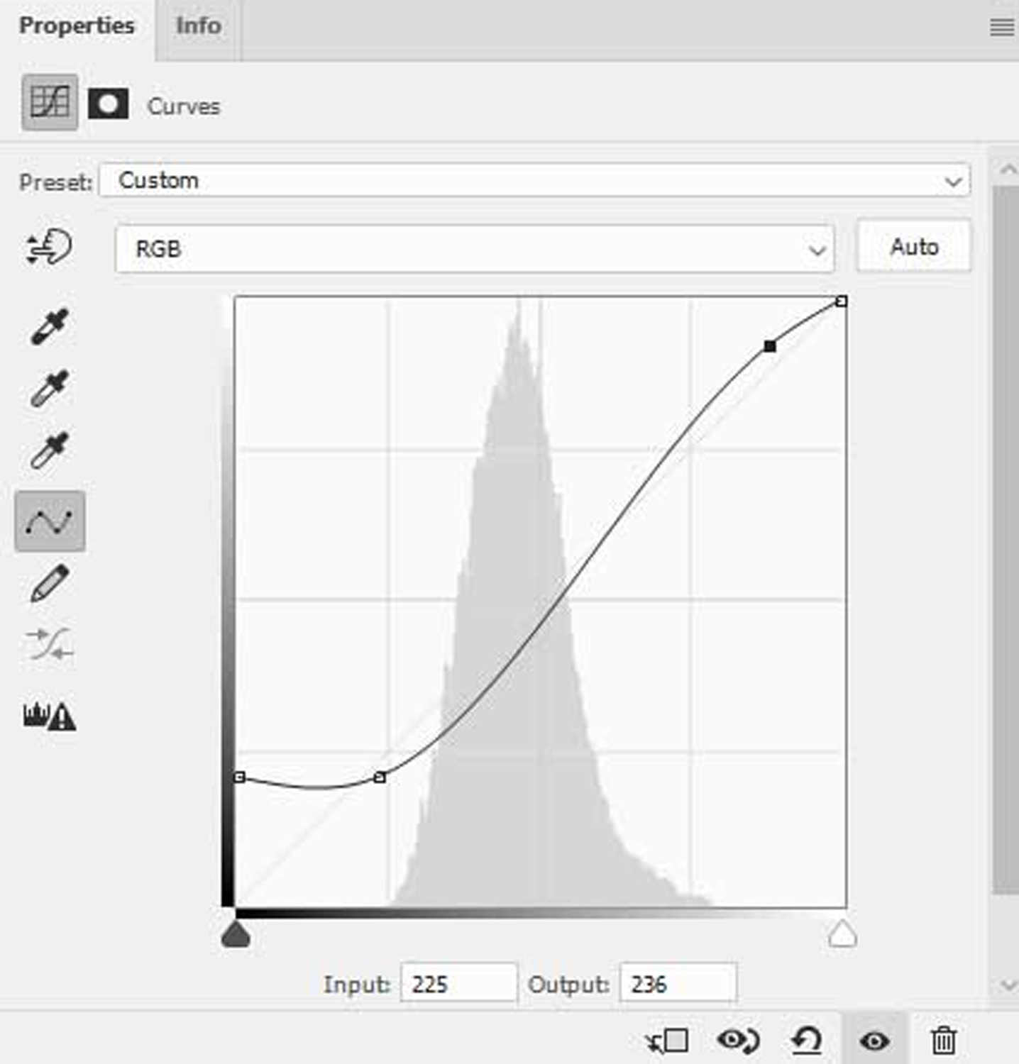 S-curve in Photoshop