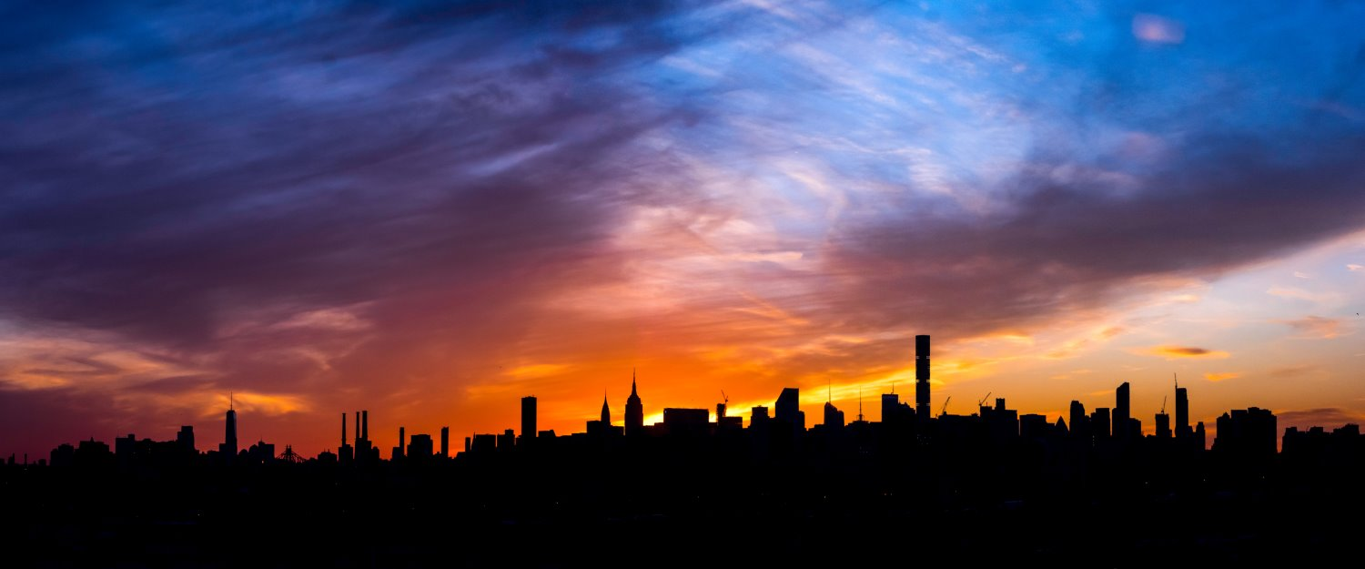 silhouetted skyline