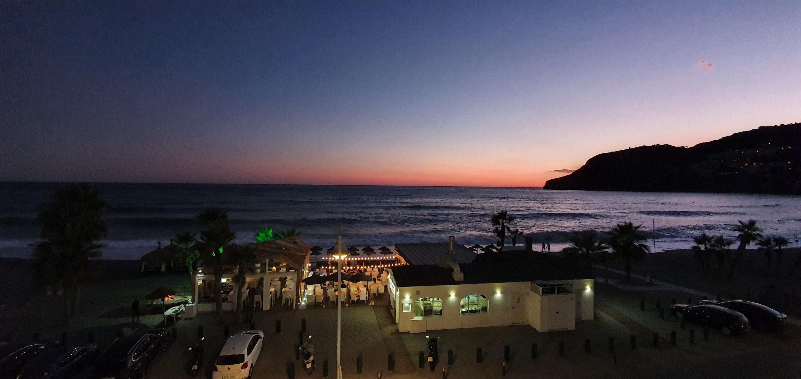 beautiful sunset over a beach