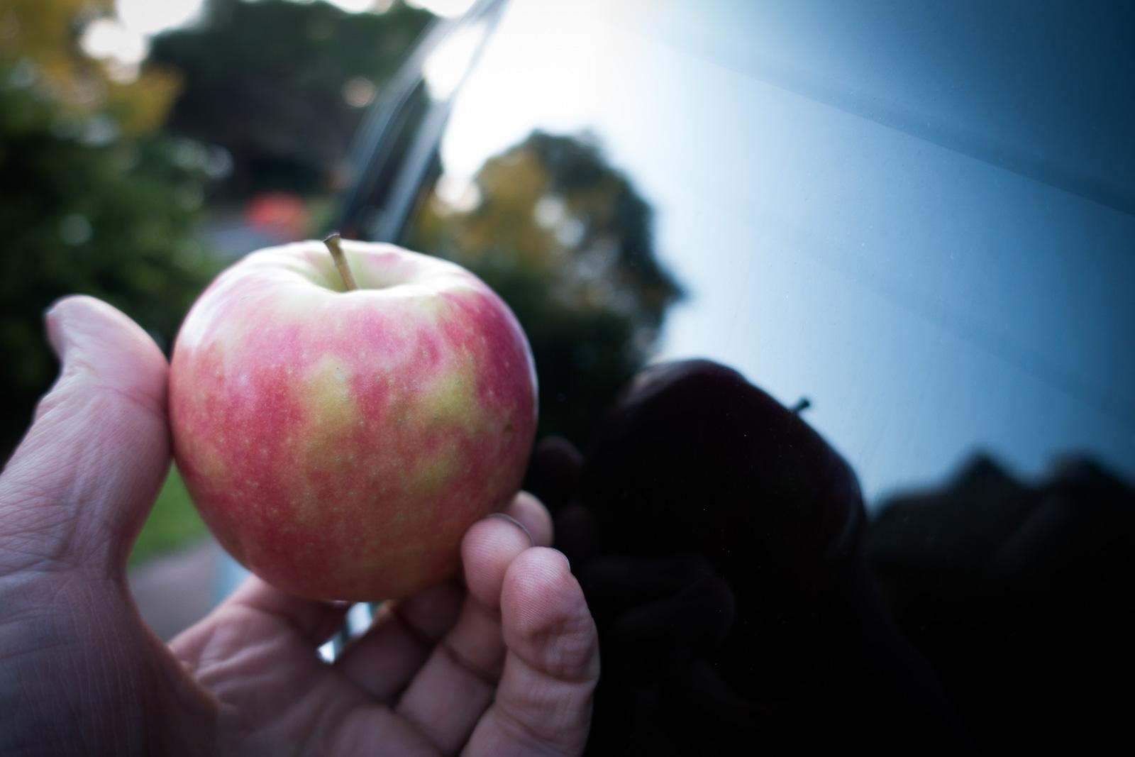 Foto de maçã chata