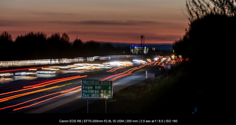 long exposure of freeway traffic