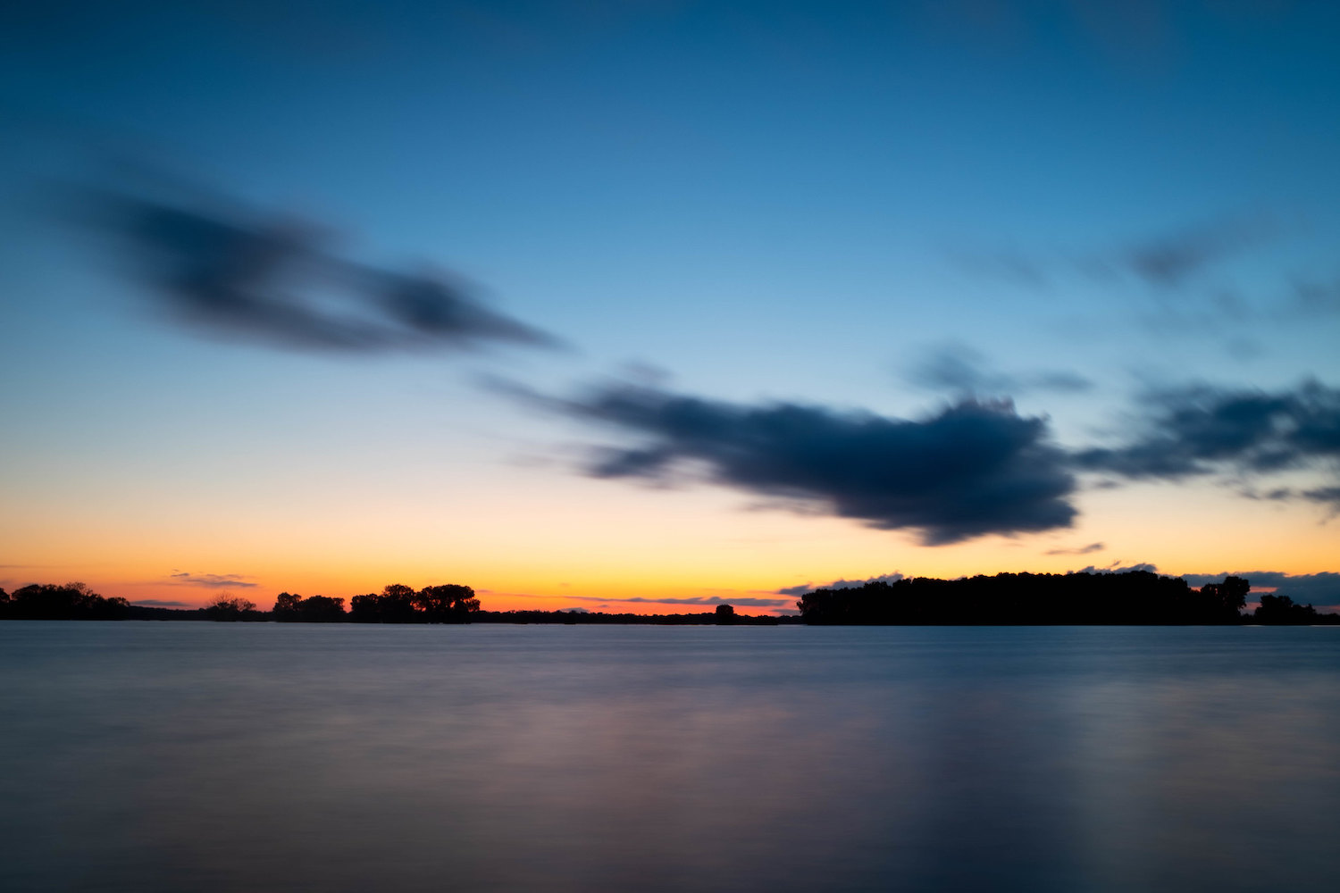 long exposure sunset with ND filter