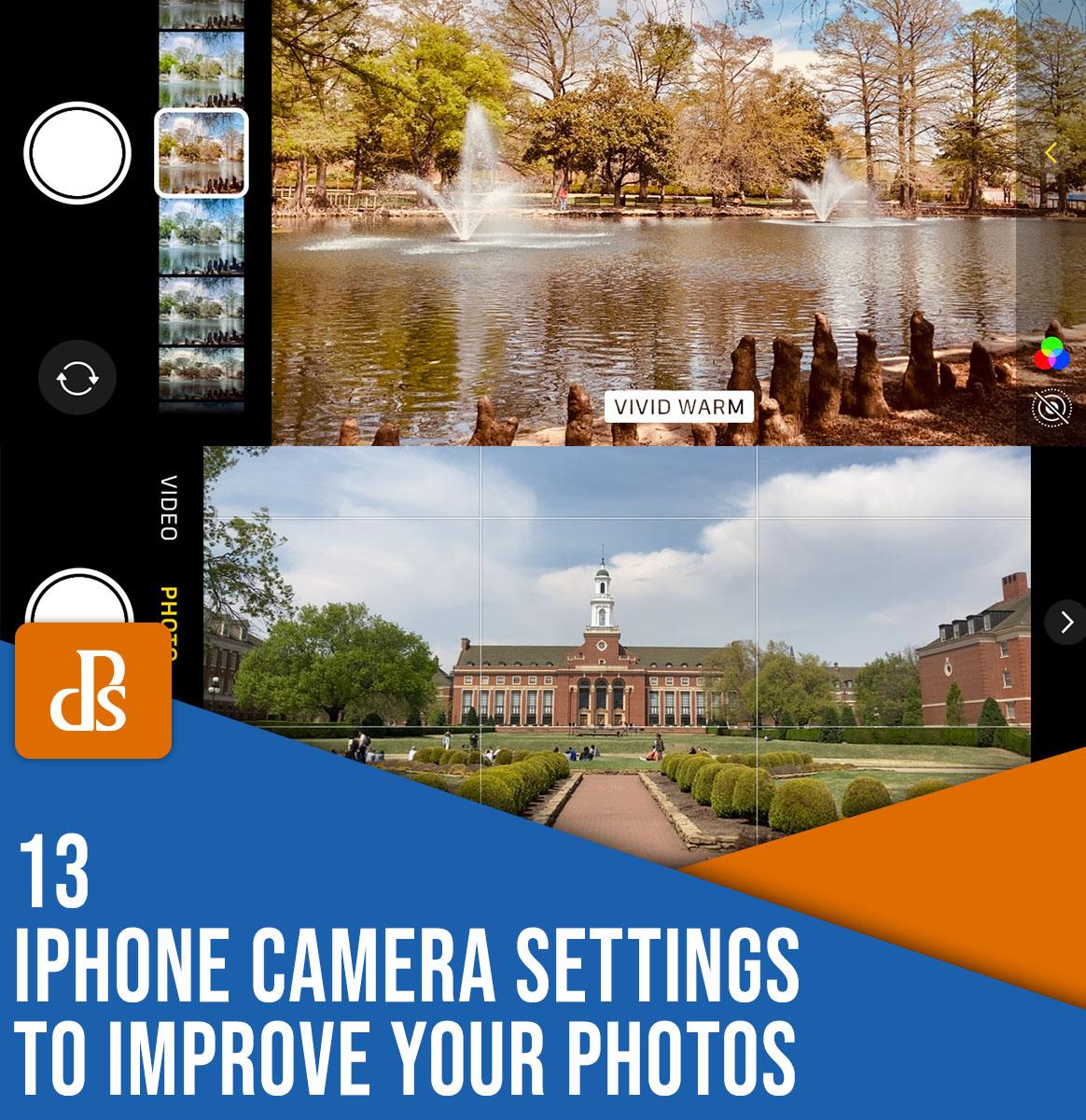 13 configurações de câmera do iphone para aprimorar suas fotos