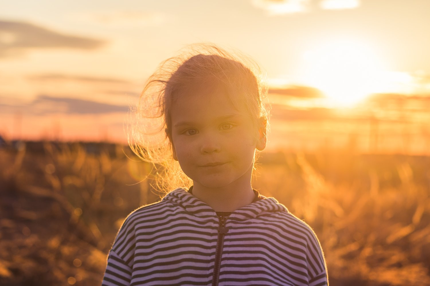 shooting portraits in bright sunshine