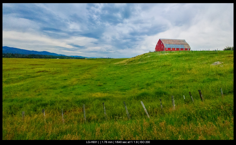 barn on a hillside