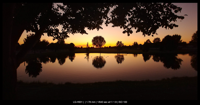 sunset at a park