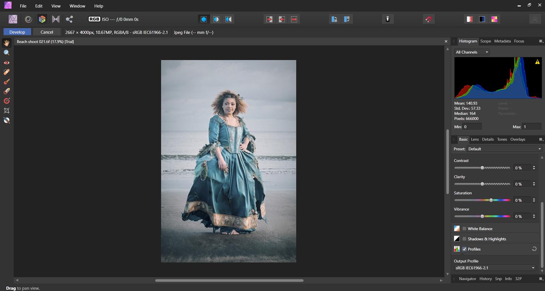 Affinity Photo editing