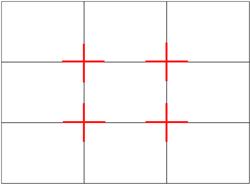 Regra de fotografia de paisagem de linhas de grade de composição de terços