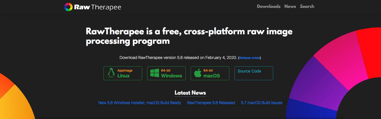 RawTherapee home page