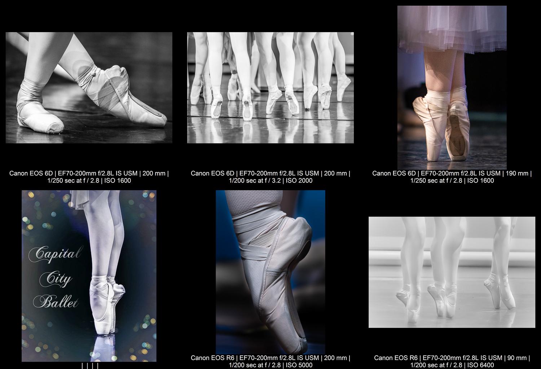 ballerina feet pointing