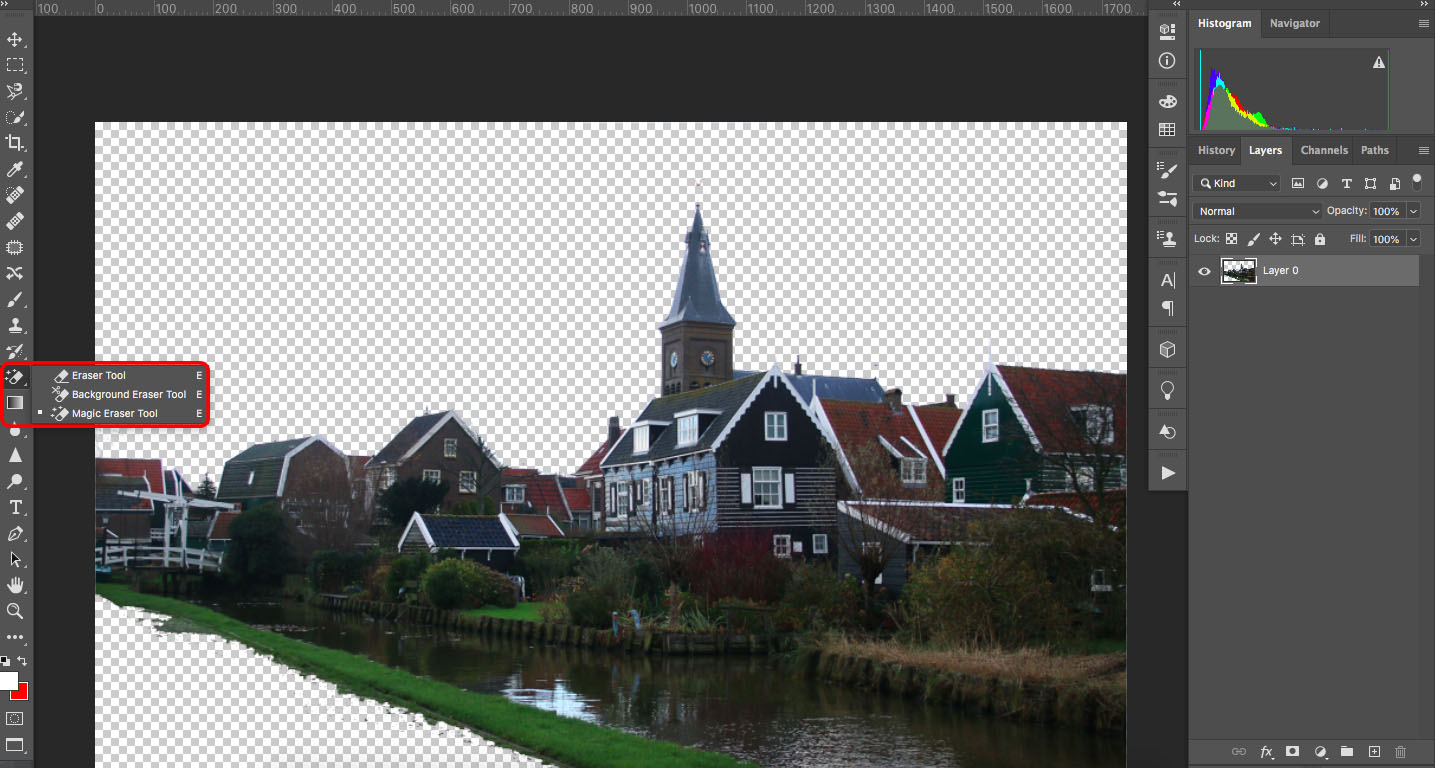 Photoshop Eraser Tool tutorial