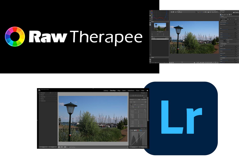 RawTherapee vs Lightroom