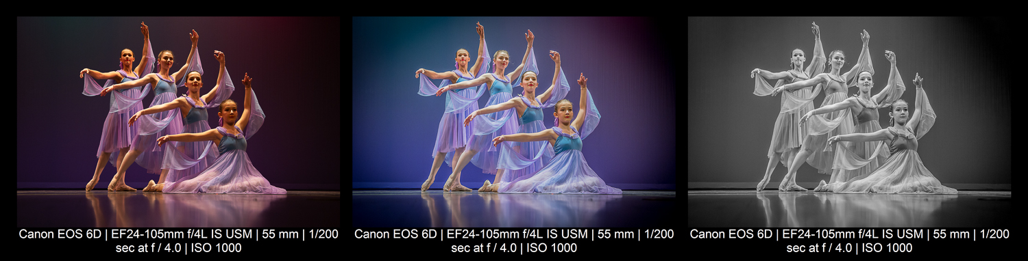 Dancers in different styles