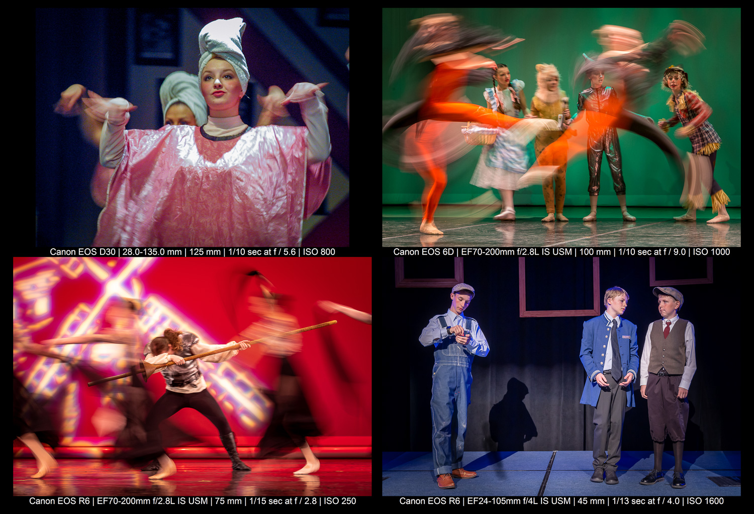 creative stage photography images with motion blur
