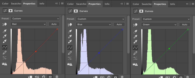 Curves RGB adjustments