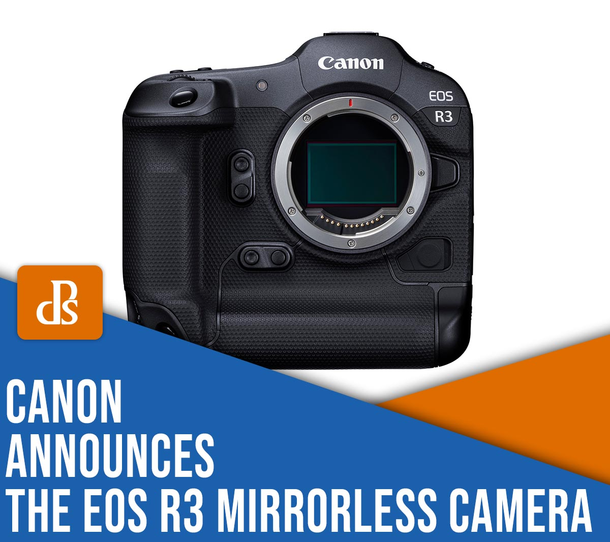 Canon announces the EOS R3 mirrorless camera