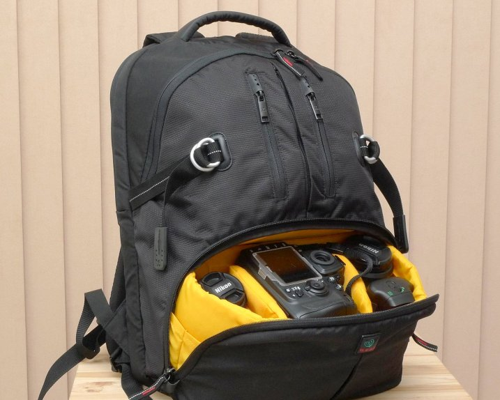 Backpack style camera bag