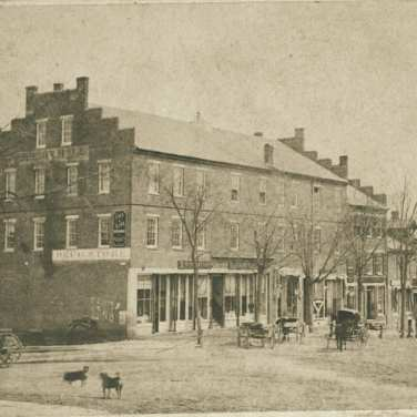"Lovell, John L., 1825-1903, ""Phoenix Row in Amherst,"" Digital Amherst, accessed June 16, 2017, http://www.digitalamherst.org/items/show/406."