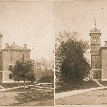 "Lovell, John L., 1825-1903, ""Williston Hall at Amherst College,"" Digital Amherst, accessed July 25, 2017, http://www.digitalamherst.org/items/show/588."