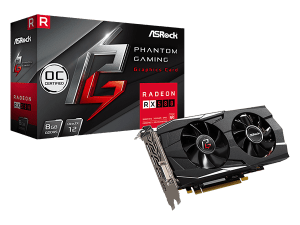 ВИДЕО КАРТА ASROCK PHANTOM GAMING D AMD RADEON™ RX 580 OC 8GB GDDR5