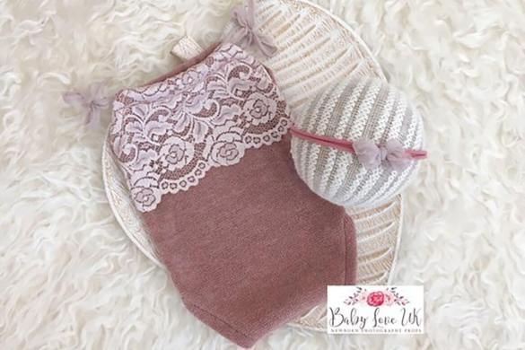 77. Newborn Romper And Headband Set