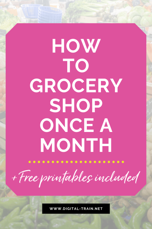 How To Grocery Shop Once A Month Free Printables Pinterest Digital Train 2