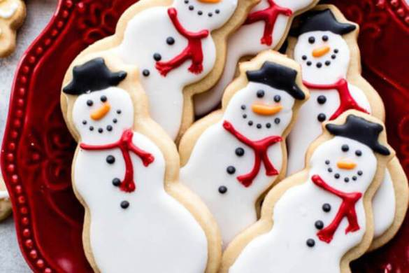 58. Snowmen Sugar Cookies Christmas Recipe
