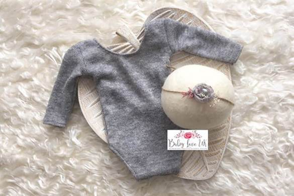 83. Newborn Romper And Headband Set
