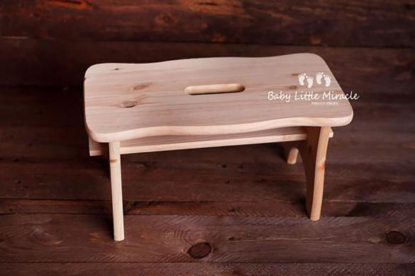 90. Newborn Wood Stool Sitter Prop
