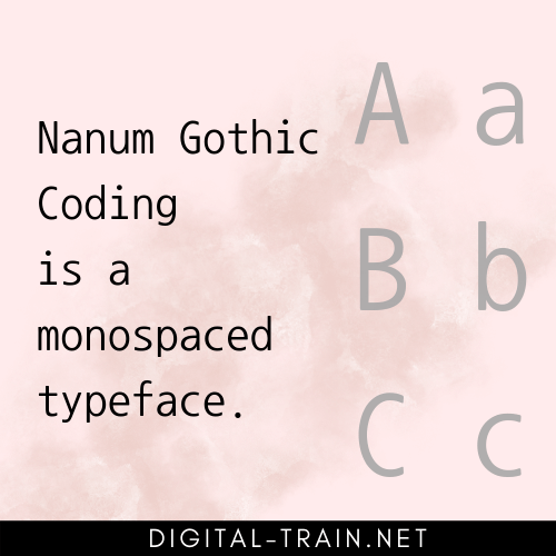 Monospaced Typeface