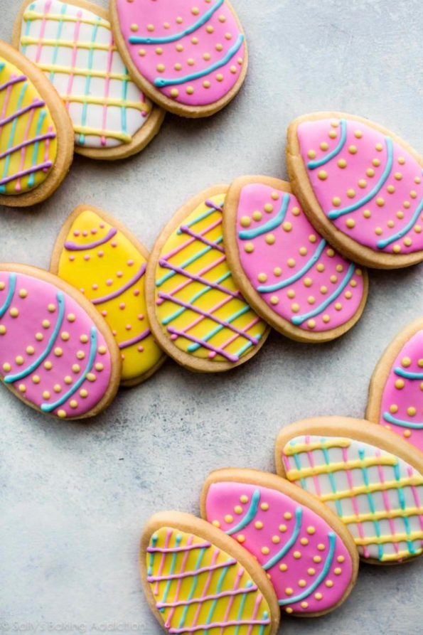 10. Decorated Easter Egg Sugar Cookies
